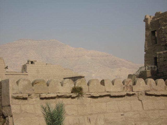 Blick auf die Nilfelder des Fruchtlands