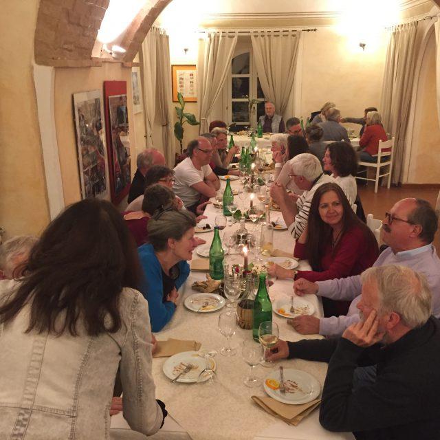 Herrliches Essen in der Villa Palagione