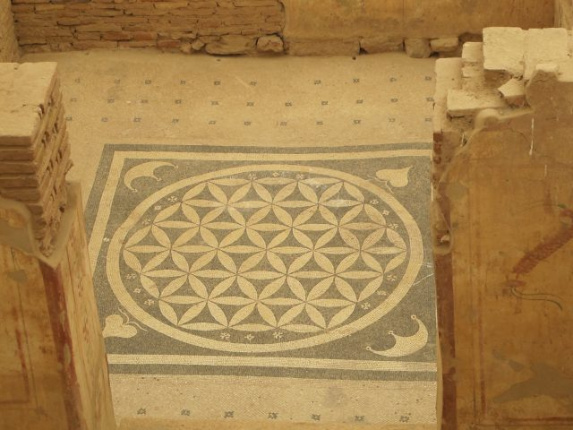 Mosaike in den Hanghäusern in Ephesos