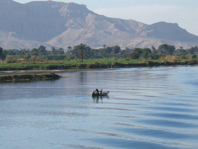 auf dem Nil bei Dendera